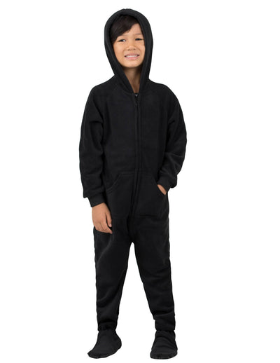 Midnite Black Toddler Hoodie Fleece Onesie
