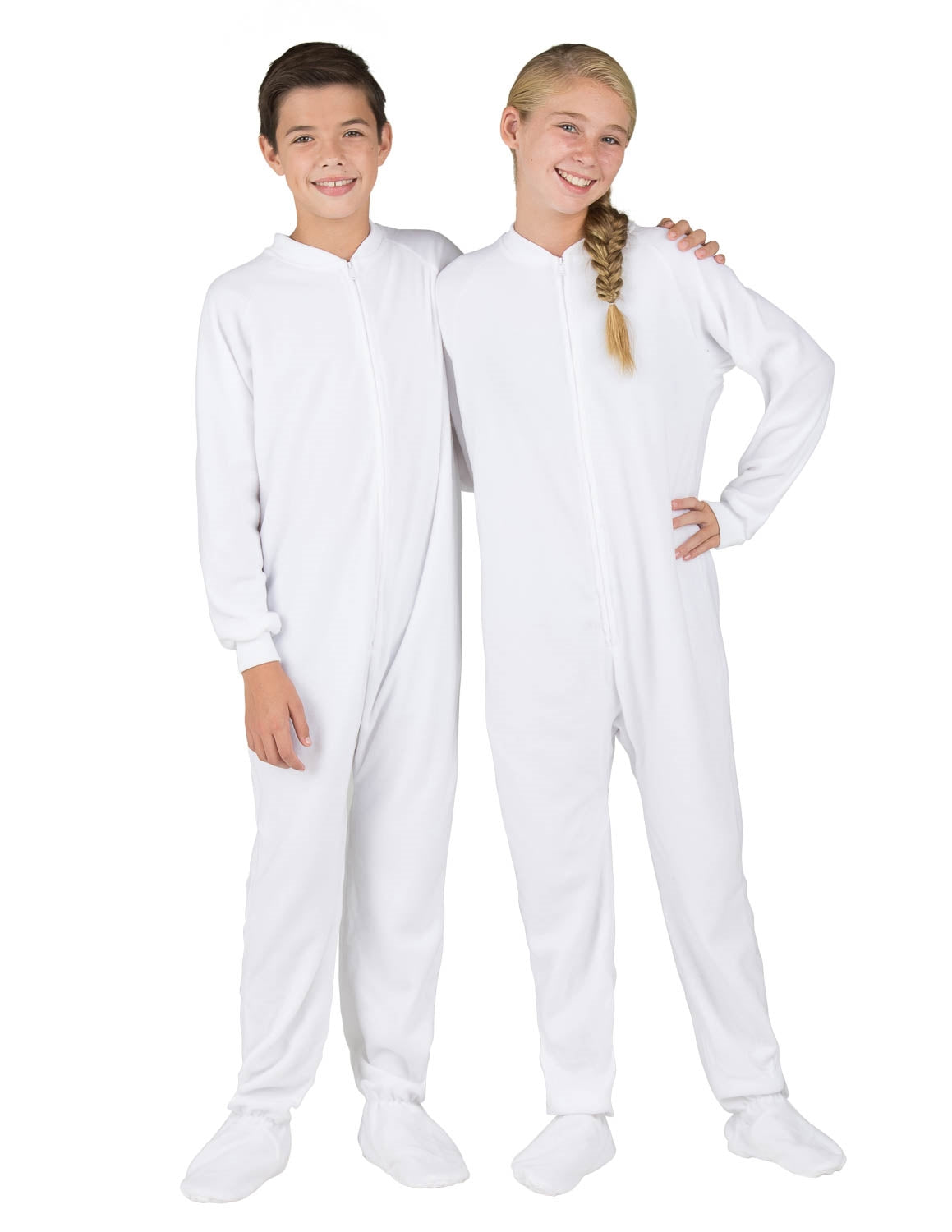 Arctic White Kids Fleece Onesie