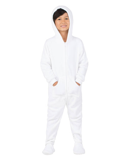 Arctic White Toddler Hoodie Fleece Onesie