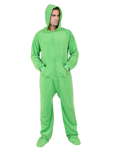 Emerald Green Adult Hoodie Fleece Onesie