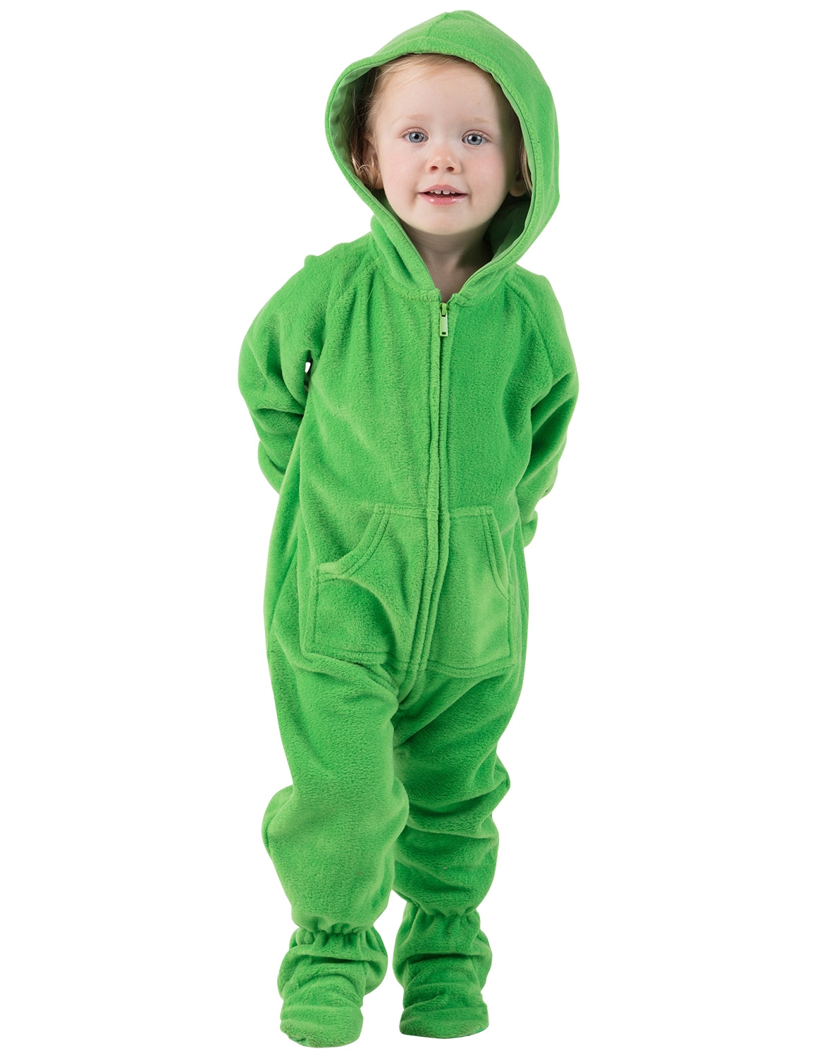 Emerald Green Infant Hoodie Fleece Onesie