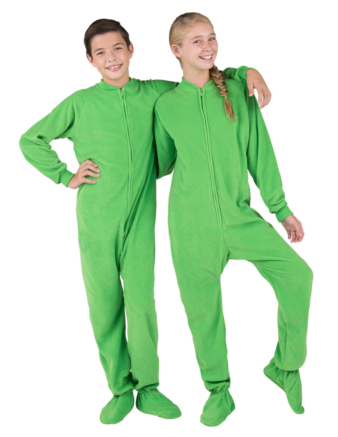 Emerald Green Kids Fleece Onesie