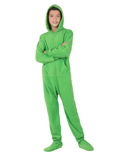 Emerald Green Kids Hoodie Fleece Onesie
