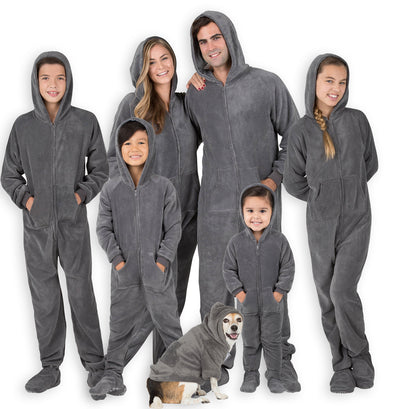 Family Matching Howling Moon Hoodie Chenille Onesie