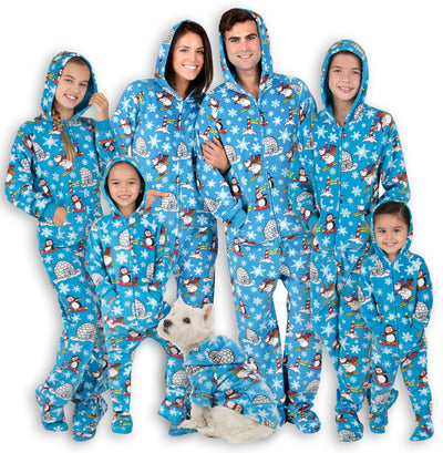 Family Matching Winter Wonderland Hoodie Fleece Onesie