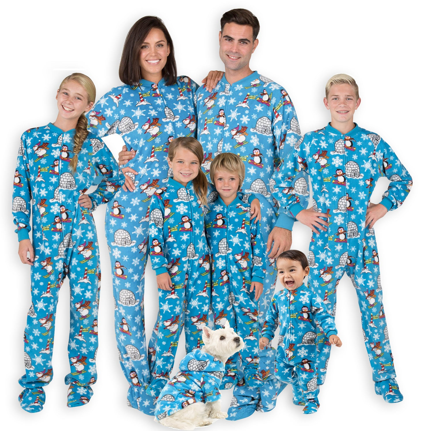 Family Matching Winter Wonderland Fleece Onesie