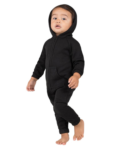Pitch Black Infant Footless Hoodie Onesie