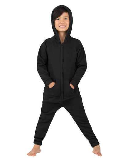 Pitch Black Toddler Footless Hoodie Onesie