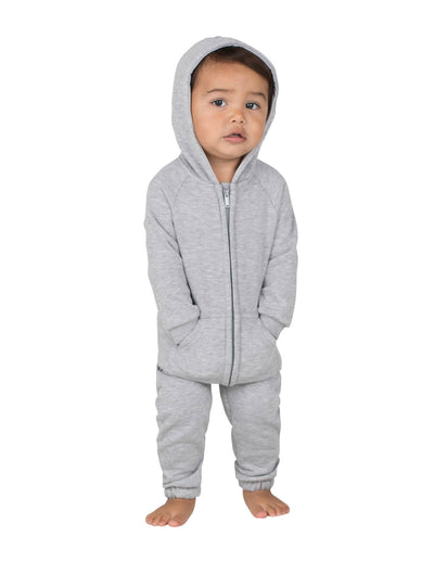 Laid-Back Gray Infant Footless Hoodie Onesie