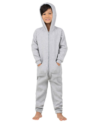 Laid-Back Gray Toddler Footless Hoodie Onesie