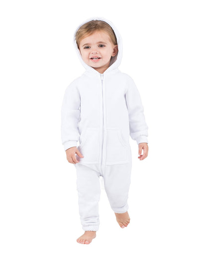 White Frosting Infant Footless Hoodie Onesie