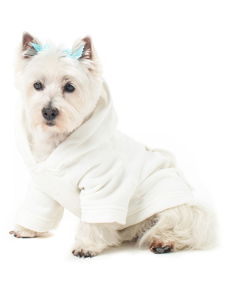 White Frosting Pet Hoodie