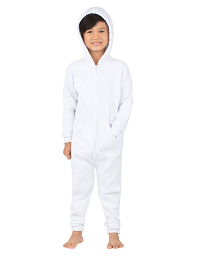 White Frosting Toddler Footless Hoodie Onesie