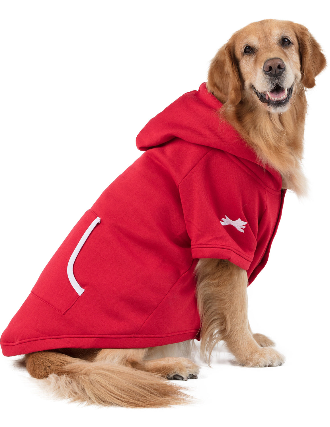 Red & White Pet Hoodie