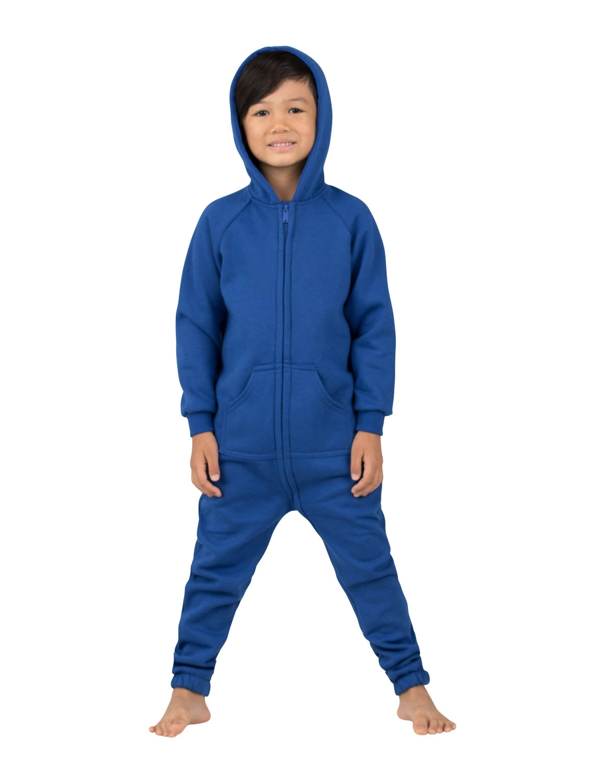 Blue Toddler Footless Hoodie Onesie