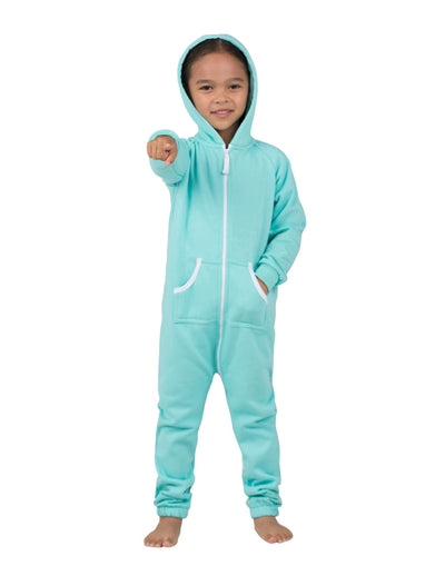 Aruba Blue Toddler Footless Hoodie Onesie