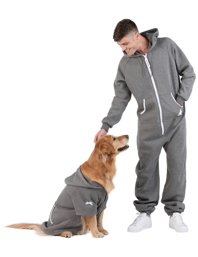 Charcoal Gray Adult Footless Hoodie Onesie