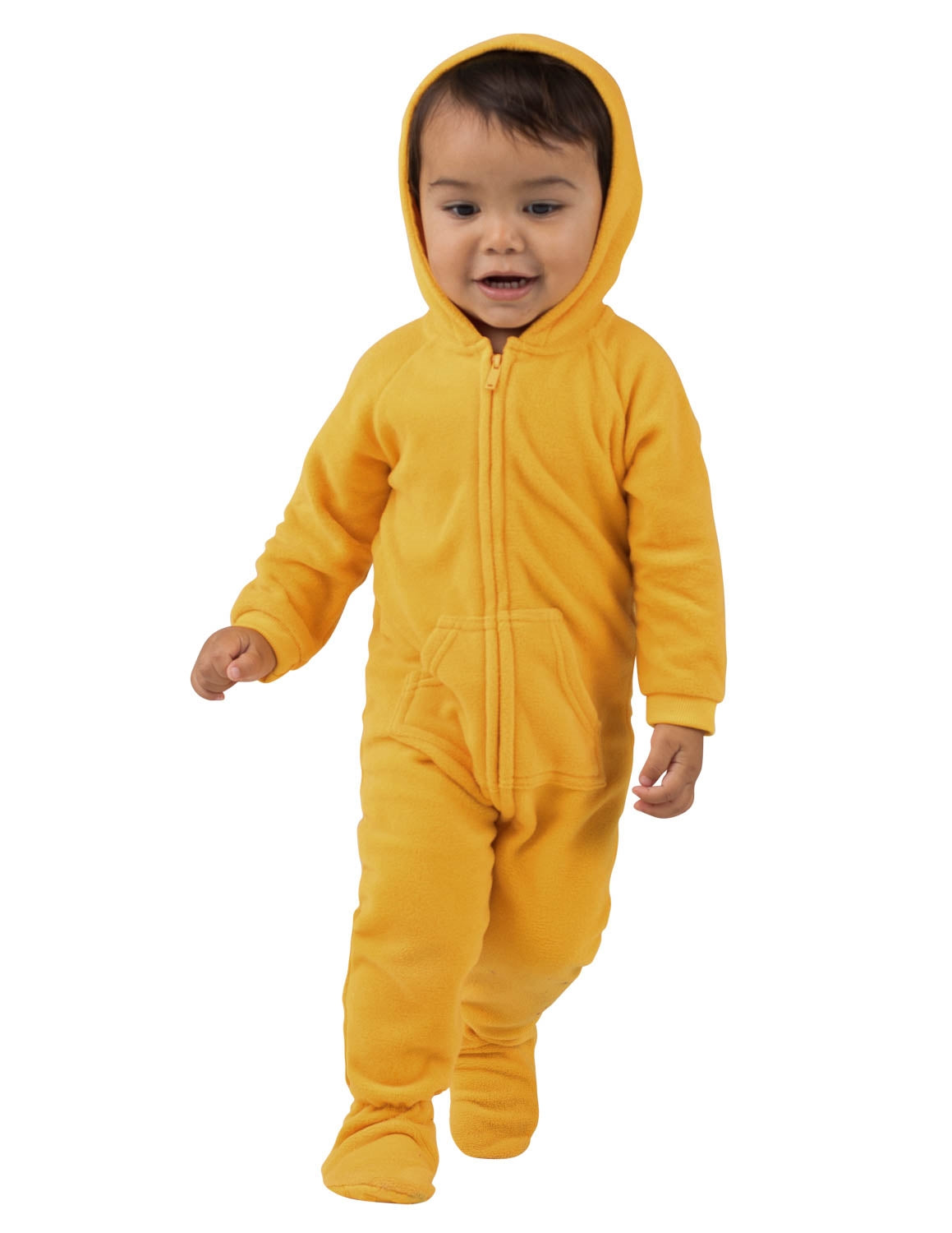 Creamsicle Infant Hoodie Fleece Onesie