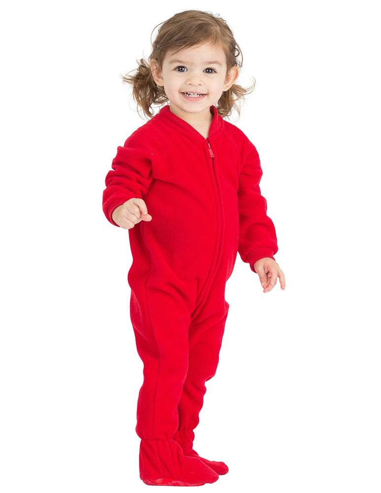 Bright Red Infant Fleece Onesie