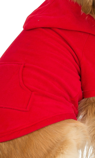 Bright Red Pet Pjs Fleece Hoodie