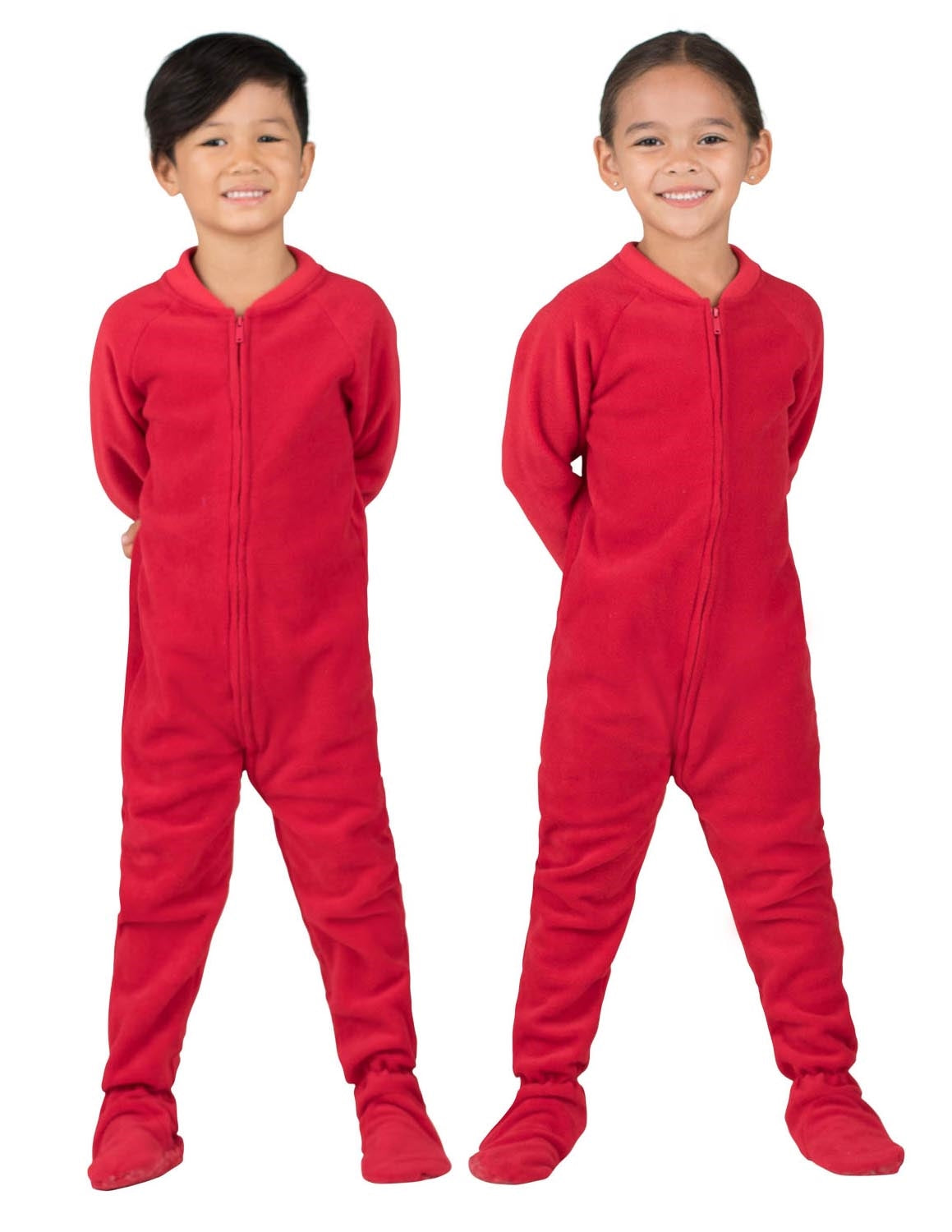Bright Red Toddler Fleece Onesie