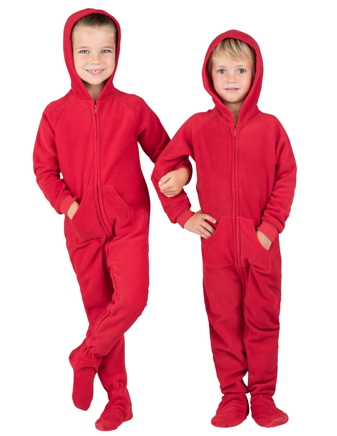 Bright Red Toddler Hoodie Fleece Onesie