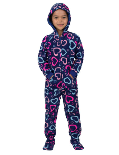 Hearts of Love Toddler Hoodie Fleece Onesie