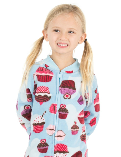Blue Cupcakes Toddler Fleece Onesie