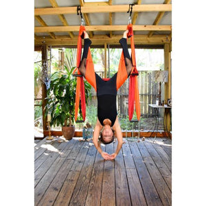 Aerial Yoga Hammock 6 Handles Strap, Home Gym Hanging Belt Swing, Trapeze Anti-Gravity Aerial Traction Device