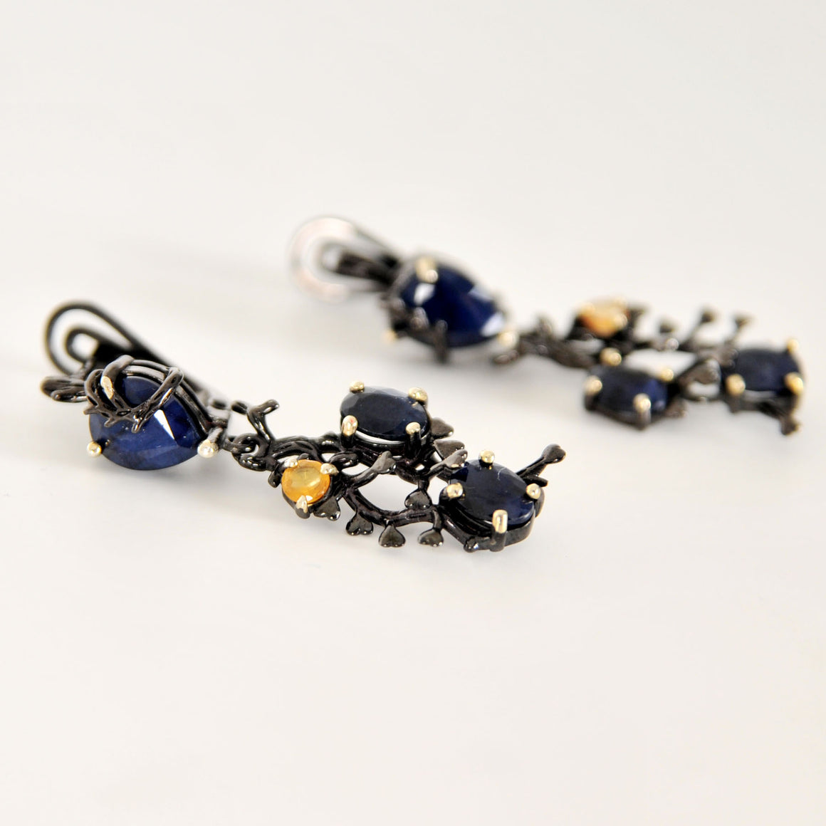 Sapphire tree Earrings