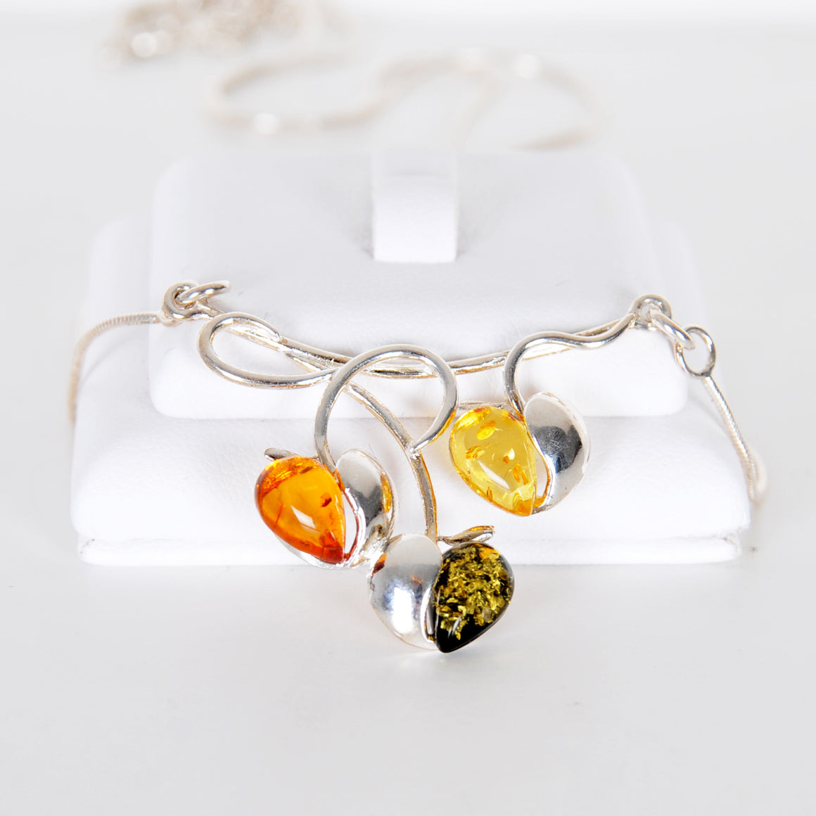 Amber cherries necklace