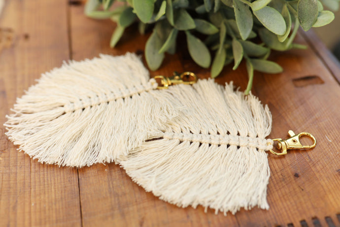 Charlotte Feather Keychain