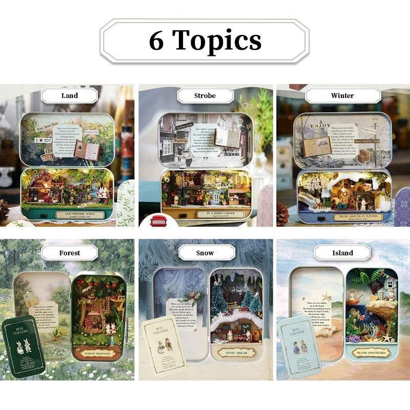 Comfortable 3D Miniature Dollhouse With Light DIY Toys