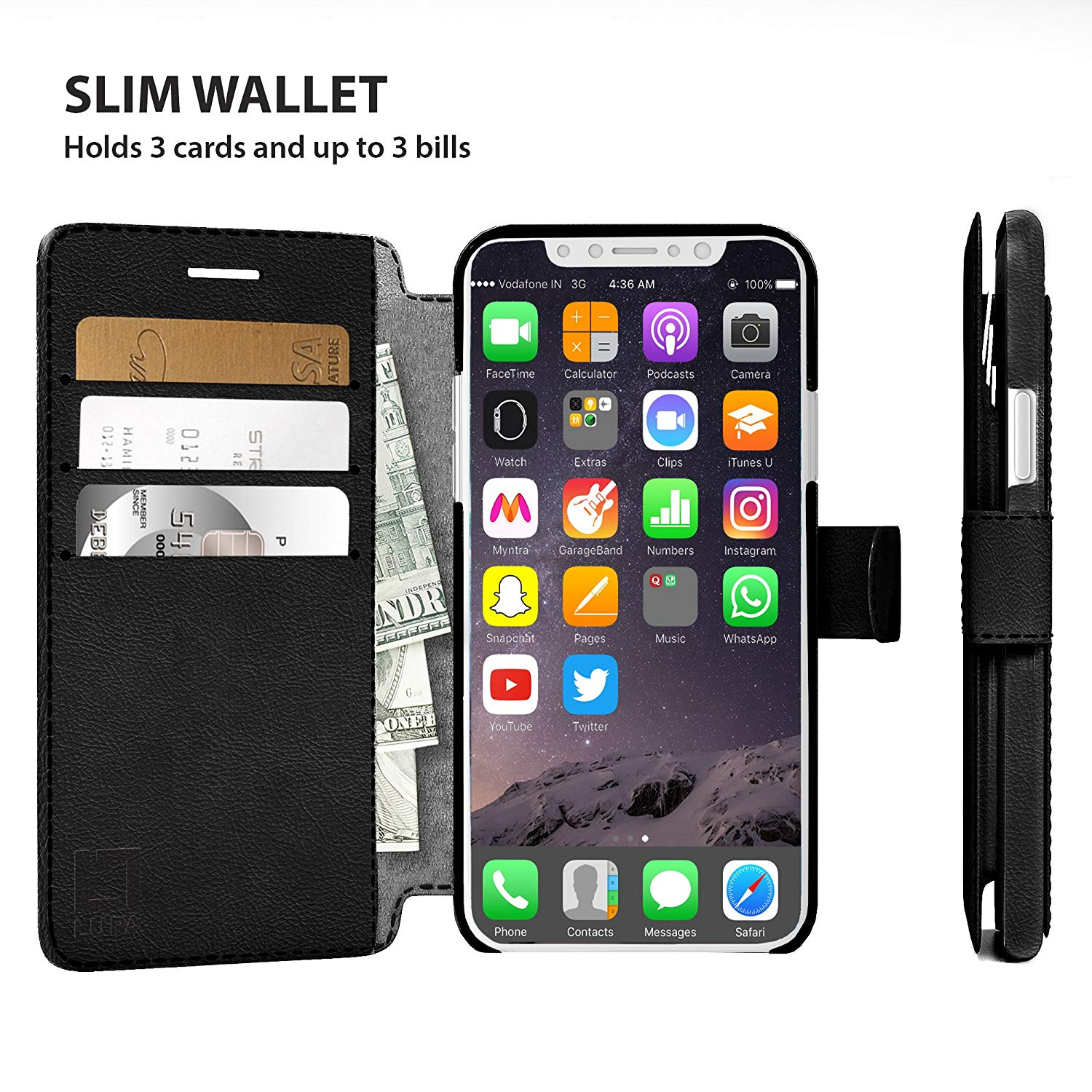 Wallet Case Classic Design/ Magnetic Closure For iPhone XR (multiple