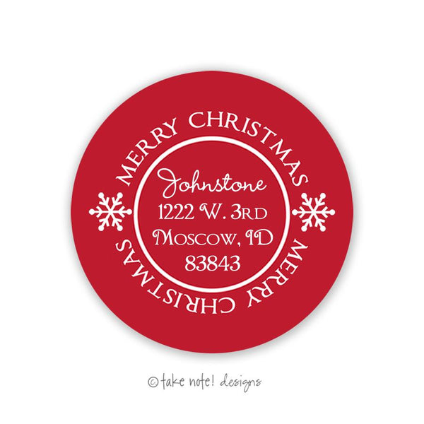 Holiday Seal Address Label