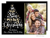 We Wish You a Very Merry Christmas Holiday Photo Card
