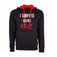 I Survived Being Real Hoodie (Red/Black)