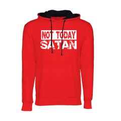 Not Today Satan Hoodie (Red)