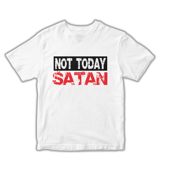 Not Today Satan Tee (White)