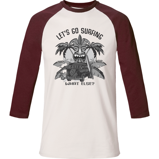 T-Shirt  baseball col rond - Let's Go Surfing - Dust On Road - DUST ON ROAD