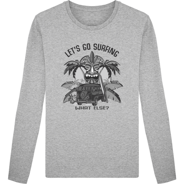Tee Shirt Homme Col Rond Manches Longues - Let's Go Surfing - Dust On Road - DUST ON ROAD