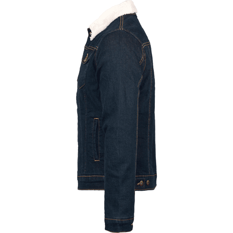Veste en jean homme doublée sherpa - DUST ON ROAD - DUST ON ROAD