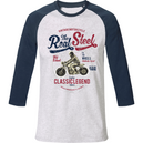 T-Shirt  baseball col rond unisex - Classic Legend - DustonRoad - DUST ON ROAD