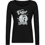 T-shirt Femme à col rond et manches longues - Wild Girl - Dust On Road - DUST ON ROAD