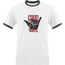 T-shirt Homme Bords Contrastés - Good vibes Dust On Road - DUST ON ROAD
