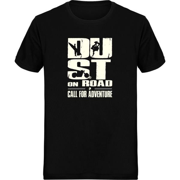 Tee Shirt homme Col Rond Matière Piqué - Call for adventure Dustonroad - DUST ON ROAD