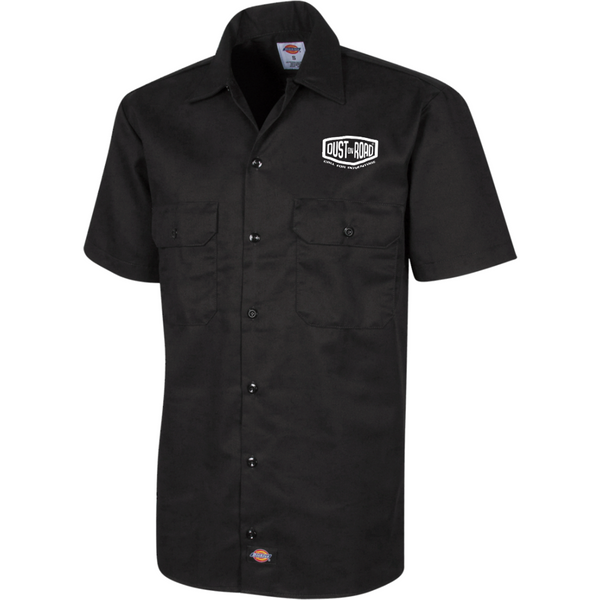 "Dickies Chemise Brodée à manches courtes pour Homme - ""SKULL"" Dust On Road - DUST ON ROAD"