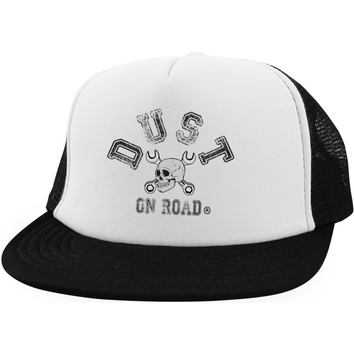 "District Trucker Hat with Snapback - Dust On Road ""Skull"" Brodé - DUST ON ROAD"