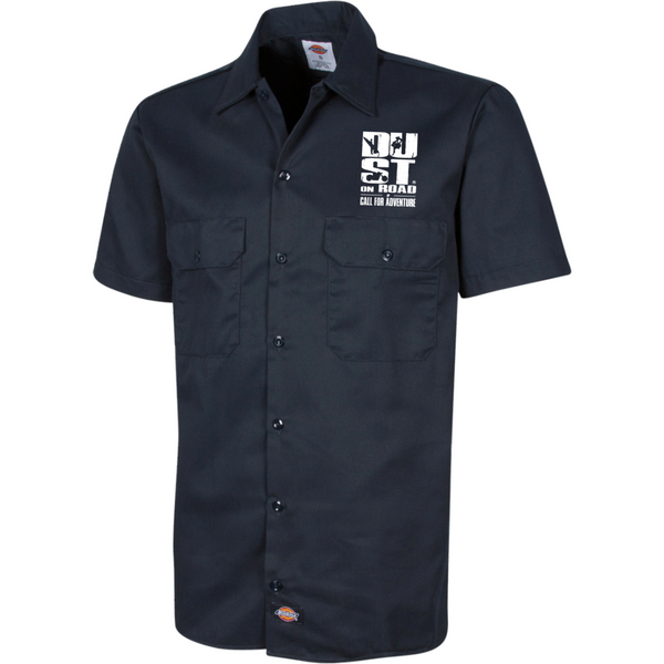 "Dickies Chemise Brodée à manches courtes pour Homme - ""Ride What you like"" Dust On Road - DUST ON ROAD"