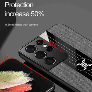 Samsung Cases Cloth Pattern With Finger Holder Cover for Galaxy A01 02 A10 A10S A12 A20S A21 A21S A32 A40 A42 A50 A51 A70 A71 A90